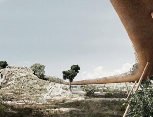 Paphos Archaeological Site Pedestrian Bridge